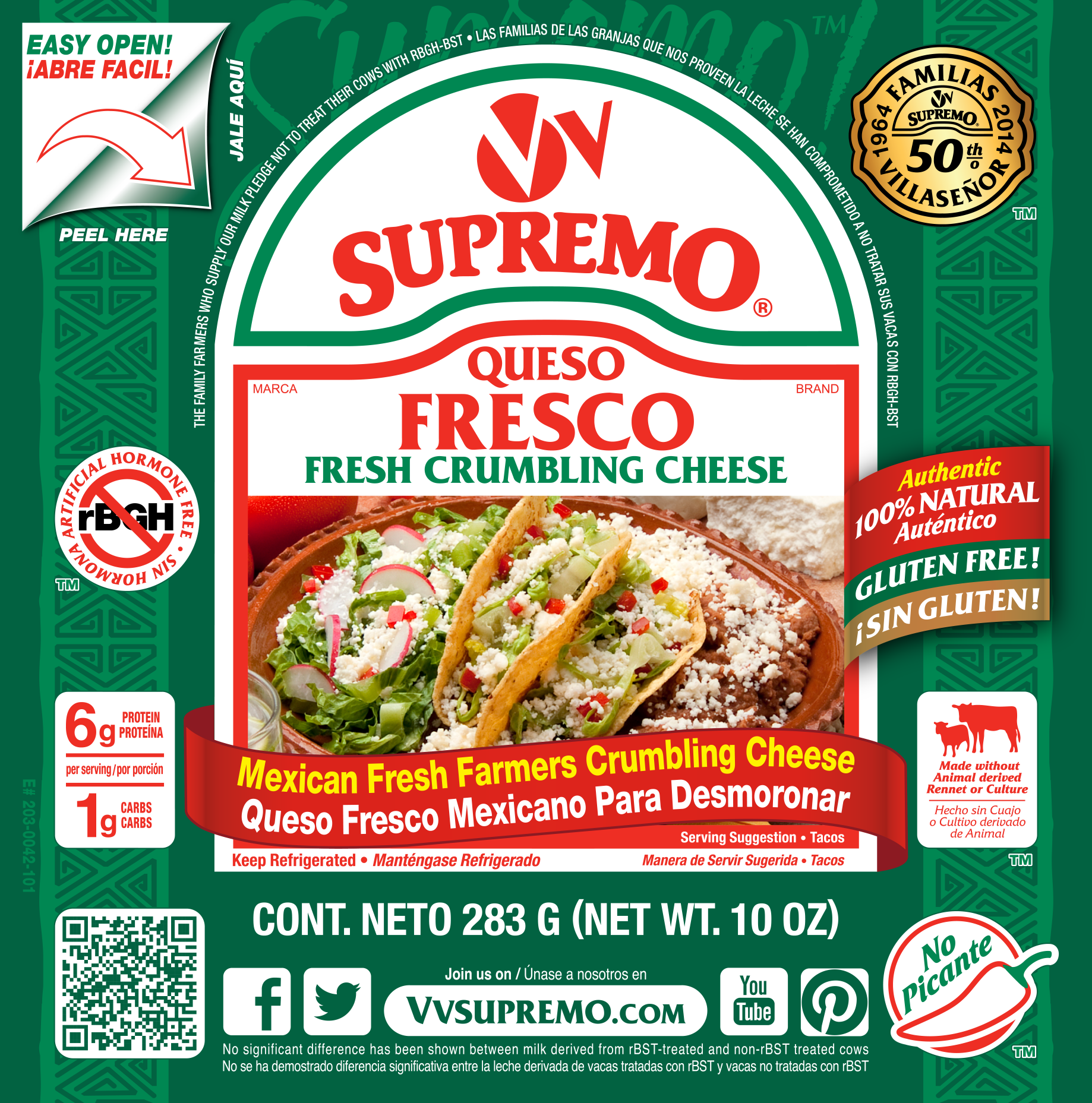 Queso Fresco 10 Oz